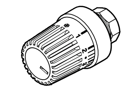 Thermostatic valve head