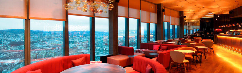 CLOUDS restaurant in the Prime Tower in Zurich