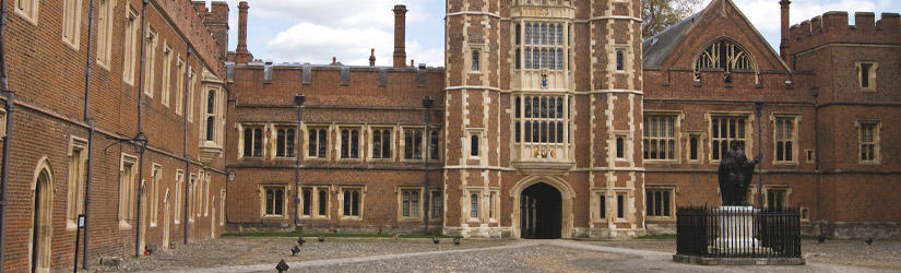 Exterior view of the elite Eton college