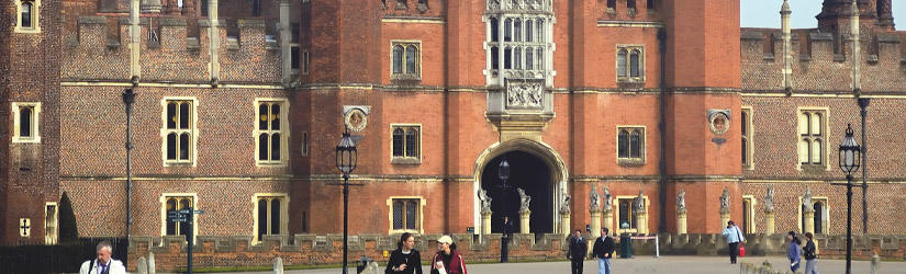 Exterior view of Hampton Court Palace